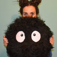 $20.00 Big Soot Sprite Pillow by MOLAPILA on Etsy