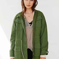 ALTERNATIVE Herringbone Military Jacket- Green