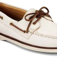 Sperry Top-Sider Gold Cup Authentic Original 2-Eye Boat Shoe IvoryLeather, Size 12M  Men's Shoes