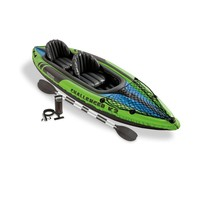Intex Challenger K2 2-Person Inflatable Sporty Kayak + Oars And Pump | 68306EP