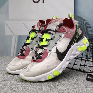 Nike React Element Woman Men Fashion Sneakers Sport Shoes