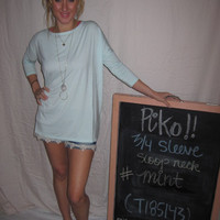Mint 3/4 Sleeve Piko Shirt On Sale | Overstock Boutiques