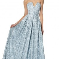 alice + olivia | KAMILA CUTOUT STRUCTURED FULL GOWN