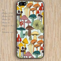 iPhone 5s 6 case Cartoon mushroom pattern phone case iphone case,ipod case,samsung galaxy case available plastic rubber case waterproof B258
