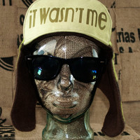 It Wasn't Me... - Whimsically Fun Hat - Make a Statement without a word & Keep your Head Toasty too