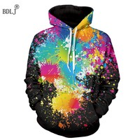 BDLJ Hot Sale Hip Hop 3D 2017 Print Men's Hoodies Fashion Sweatshirt Long Sleeves Hooded Pullover Colored Drawing Hoodies Man