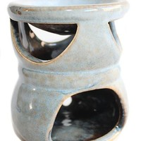 Sky Blue Rustic Ceramic Tart Warmer