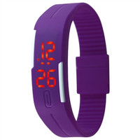 Candy Color Jelly TPU Strap LED Screen Casual Bracelet Wrist Watch Watches = 1958350852
