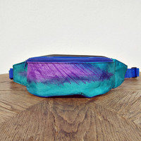 90s Old School Fanny Pack/ Colorful Hip Bag/ Pounch Bag