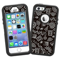 """Black and White Tribal """"Protective Decal Skin"""" for OtterBox Defender iPhone 5s Case"""