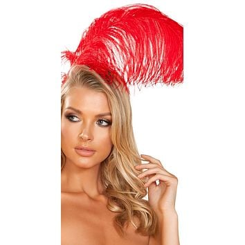 Sexy Cancan Red Feather Headband