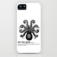 Octopus Dictionary iPhone & iPod Case by VectoriaDesigns