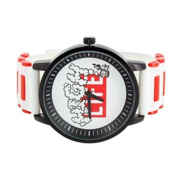 High Life Designer Techno Pave Watch Silicone Band