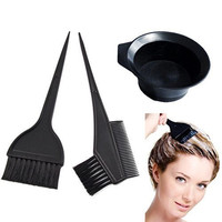Salon Hair Coloring Dyeing Kit Color Dye Brush Comb Mixing Bowl Tint Tool Bleach by ATB