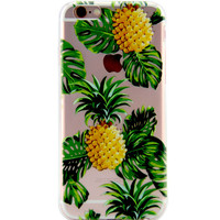 Sweet-and-Sour Pineapple Printed iPhone 7 7Plus & iPhone se 5s 6 6 Plus Case Cover +Gift Box-86