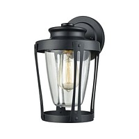 Fullerton 1-Light Outdoor Wall Lamp in Matte Black