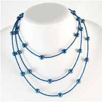 Wrap Around Necklace - Dark Blue