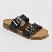 Women's Mad Love Keava Footbed Sandal - Black 7
