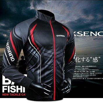 Shimano Shirt Fishing Clothing Long Sleeve  Breathable Quick Dry cycling camping hiking Clothes peace face neck