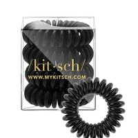 Black Hair Tie Coils (Set of 4)
