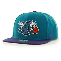 47Brand Hornets Sure 2 Tone Snapback - Teal
