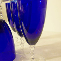 SOLD OUT....Cobalt Blue Flutes