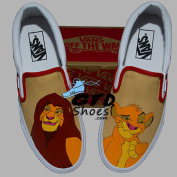 Hand Painted Vans. The Lion King, Simba