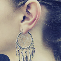 Dream Catcher Earrings - 14 Feathered
