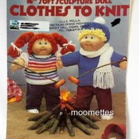 Soft Sculpture Doll Clothes to Knit 16 Inch Leisure Arts Knitting Pattern 368