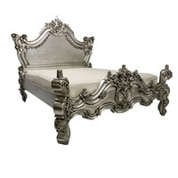 French silver ornate bed | French centrepiece bed