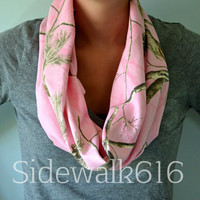Pink Real Tree Infinity Scarf