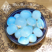 Opalite Tumbled Gemstone Jumbo . Meditation, Communication, Success, Peace, Sleep, Release Worry and Fear, Sex
