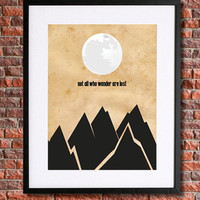 "Lord of the Rings Poster Art | 8x10 Instant Download Printable | Quote ""Not all who wonder are lost"" 