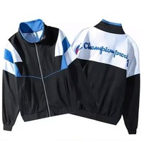 Champion Trending Women Men Casual Zipper Cardigan Sweatshirt Jacket Coat Windbreaker Sportswear