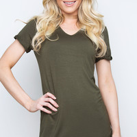Ready To Go Shirt Dress - Olive