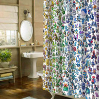 pokemon all shower curtain customized design for home decor