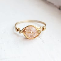 Sparkle Peach Ring - prom rings