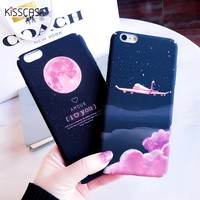 KISSCASE Phone Case For iPhone 5s Case For iPhone 6 6s 7 8 Plus X 10 King Queen Thin Back Cover For iPhone 7 8 X Coque Capinha
