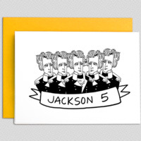 Jackson 5 note card