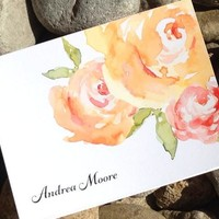 Personalized Stationery Note Cards Set, Personalized Stationary - Set of 12 Cards