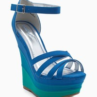 Skyline 05 Colorblock Strappy Wedge