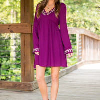 Boho Daze Dress, Purple