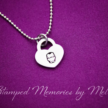 I am Iron Man - Hand Stamped Fangirl Jewelry - Avengers - Personalized with the Avenger of Your Choice - Hawkeye Thor Captain America Hulk