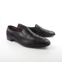 Bally Loafers Shoes Vintage 1970s Leather Brown Continental Men's size 10 D