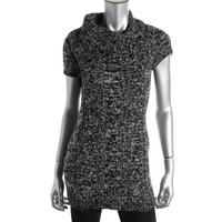 INC Womens Knit Marled Tunic Sweater