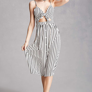 Striped Cutout Cami Dress
