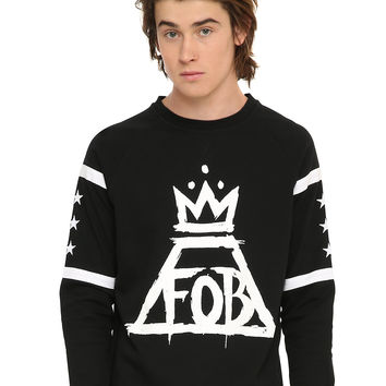 Fall Out Boy Crown Logo Hockey Crewneck Pullover