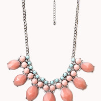 Heirloom Faux Gemstone Bib Necklace