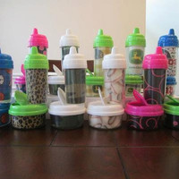 Personalized Sippy Cup and Snack Bowl Set by BabycakesbyBrooke