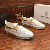 Versace Slip On Sneakers White/gold